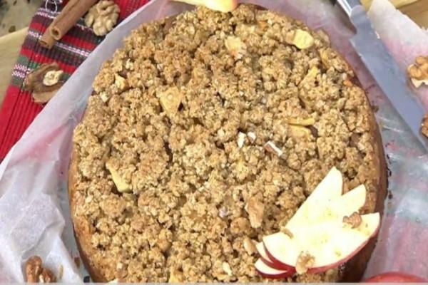 Κέικ βρώμης με μήλο και κανέλα! (Video)