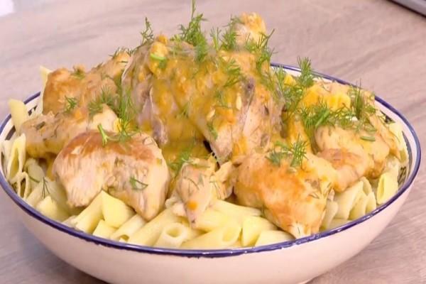 Κοτόπουλο με γλυκοπατάτες και μαραθόριζα λεμονάτα! (Video)