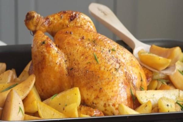 Κοτόπουλο με πατάτες σε σακούλα!