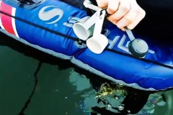 Ρίχνει ένα κουταλάκι λάδι σε μία λίμνη! Αυτό που γίνετε στη συνέχεια θα σας σοκάρει! (Video)