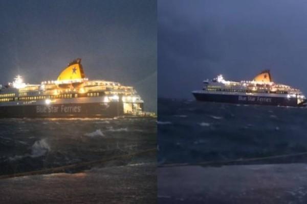 Νάξος: Καπετάνιος δίνει μάχη με τα κύματα και παλεύει με 9 μποφόρ! (video)