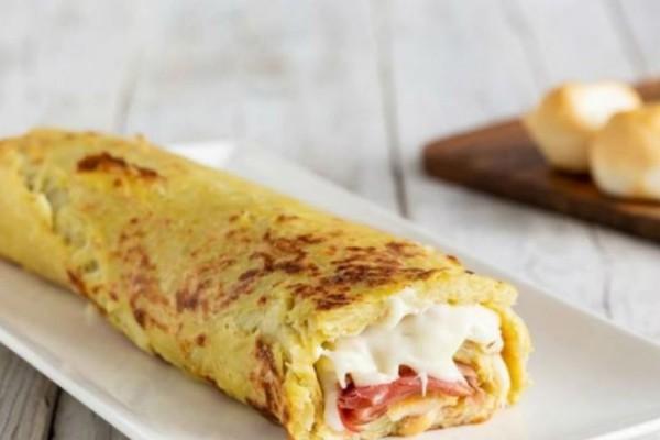 Θεϊκό ρολό πατάτας με τυρί και μπέικον!