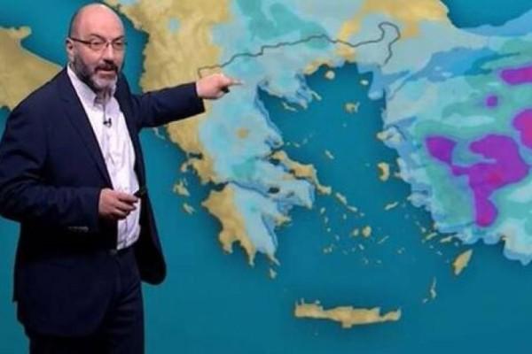 Έκτακτη προειδοποίηση από τον Σάκη Αρνούτογλου: Η περιοχή που βρίσκεται στο «μάτι» της νέας κακοκαιρίας!