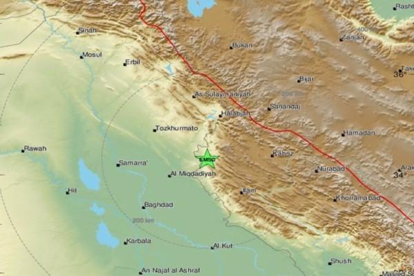 Δυνατός σεισμός στα σύνορα Ιράν-Ιράκ!