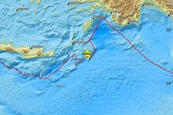Σεισμός 5,1 Ρίχτερ ανάμεσα σε Κάρπαθο-Ρόδο! (photos)