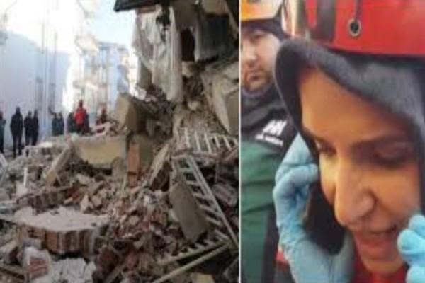 Δραματικές σκηνές από τον σεισμό στην Τουρκία! Συγκλονιστική στιγμή που διασώστρια μιλά με εγκλωβισμένη: «Μην...»! (Video)