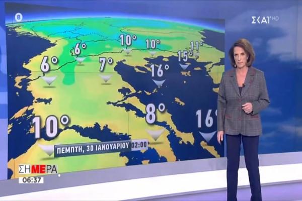 «Βροχές και χιόνια στα ορεινά, αλλά...»! Η Χριστίνα Σούζη προειδοποιεί! (video)