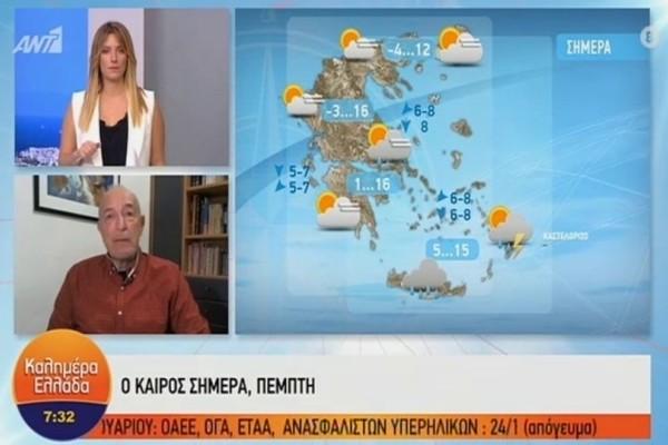 Τάσος Αρνιακός: Επιμένουν οι χαμηλές θερμοκρασίες! Η περιοχή που θα πρέπει να προσέξει! (Video)