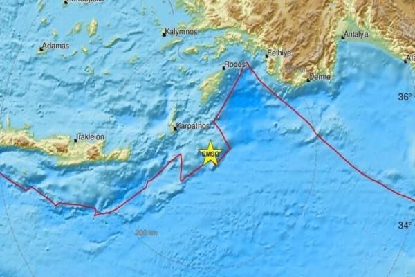 Νέος σεισμός στην Κάρπαθο! (photo)