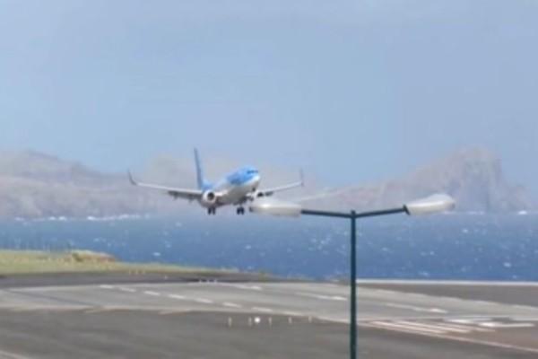 Τρόμος σε πτήση κατά την προσγείωση στην Πορτογαλία! (Video)