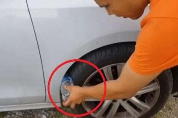 Κίνδυνος: Αν δείτε μπουκάλι στη ρόδα αυτοκινήτου πηγαίντε στην αστυνομία!