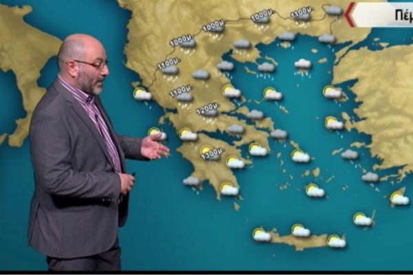 Σάκης Αρναούτογλου: «Σε πλήρη εξέλιξη η κακοκαιρία»! Που θα χιονίσει και που θα βρέξει τις επόμενες ώρες; (Video)