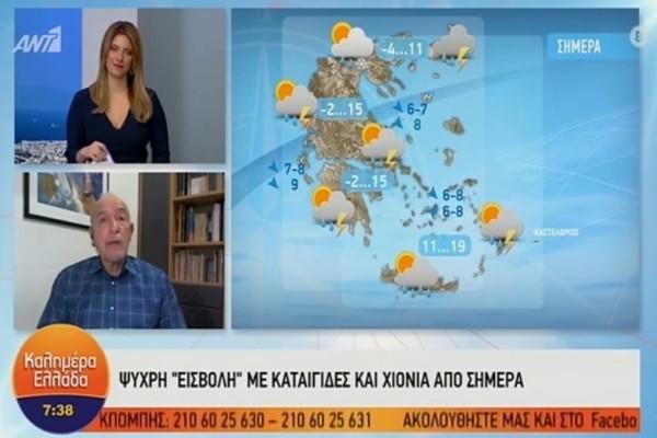 Τάσος Αρνιακός: Δυστυχώς οι καιρικές συνθήκες...! Έρχονται χιόνια και στην Πάρνηθα! (Video)