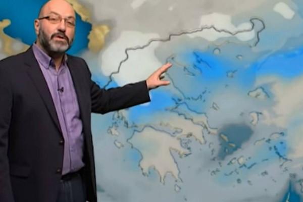 «Προσοχή: Ο καιρός αλλάζει την Πέμπτη! Έρχονται καταιγίδες, χιόνια και ισχυροί άνεμοι»! Ο Σάκης Αρναούτογλου προειδοποιεί! (video)