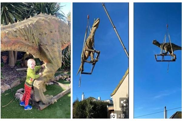 Ένας πατέρας ήθελε να κάνει δώρο στον 4χρονο γιο του αυτόν τον δεινόσαυρο...Έπαθε σοκ όμως με αυτό που συνέβη!