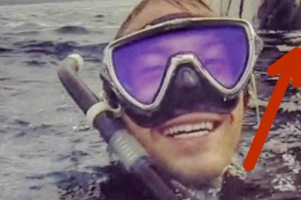 24χρονος δύτης βγάζει selfie στη θάλασσα. Όμως όταν βλέπει τι είναι από πίσω του παθαίνει σοκ!