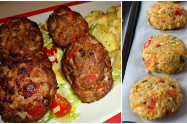 Αφράτα και νηστίσιμα μπιφτέκια λαχανικών χωρίς λάδι: Η πιο συνταγή για την σαρακοστή!