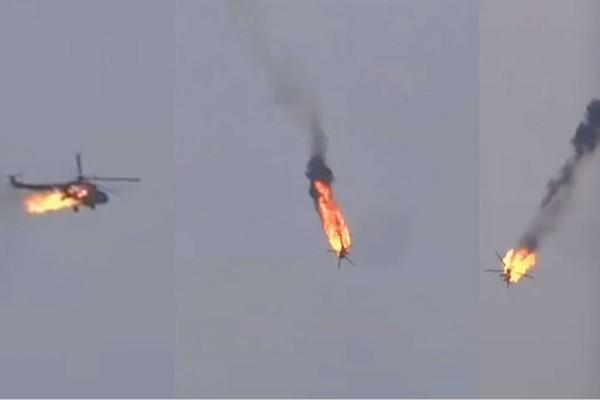 Ελικόπτερο τυλίγεται στις φλόγες και συντρίβεται!  Συγκλονιστικό βίντεο-ντοκουμέντο!