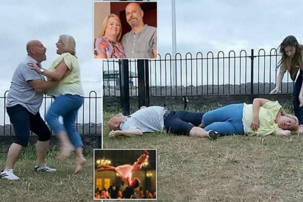 Τοποθέτησαν κάμερα και ξεκίνησαν τον χορό. Ωστόσο στη συνέχεια έπεσαν κάτω και...Θα παγώσετε!