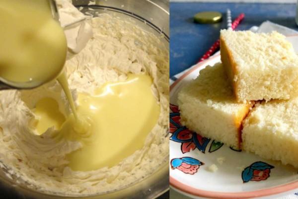 Κέικ με ζαχαρούχο γάλα και 4 ακόμη υλικά - Έτοιμο σε 35 λεπτά