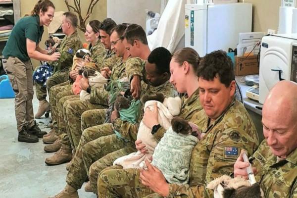 Βίντεο που σπαράζει καρδιές! Στρατιώτες στην Αυστραλία φροντίζουν κοάλα μετά τις καταστροφικές πυρκαγιές!