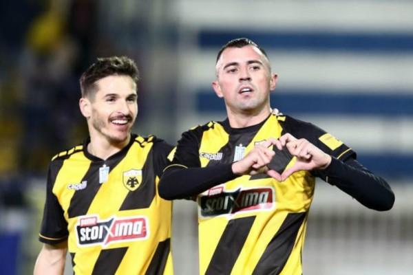 Super League: «Πέταξε» στο Περιστέρι η ΑΕΚ!