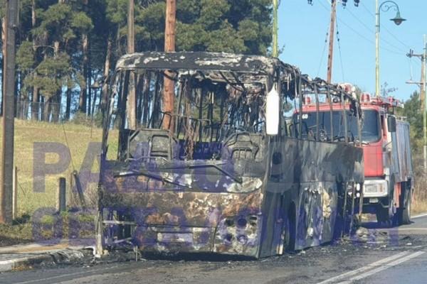 Συναγερμός στο Κιλκίς: Κάηκε ολοσχερώς τουριστικό λεωφορείο!