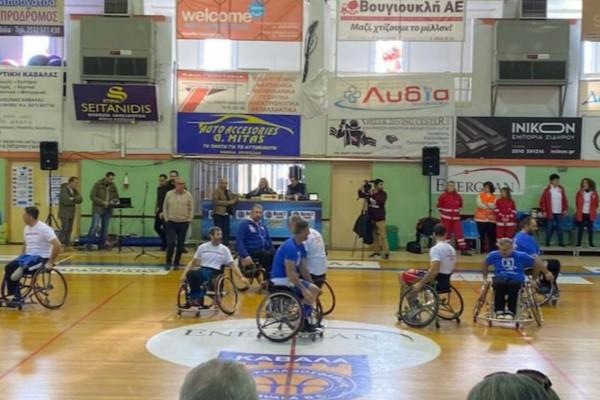 Φιλανθρωπικός αγώνας της ομάδας μπάσκετ με αμαξίδιο του Α.Ο. Καβάλας  και των εργαζομένων του Μασούτη!