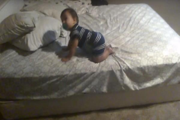 Πατέρας τοποθέτησε κάμερα για να δει το μωρό του όταν είναι στο κρεβάτι...Δεν πίστευε αυτό που είδε να γίνεται!