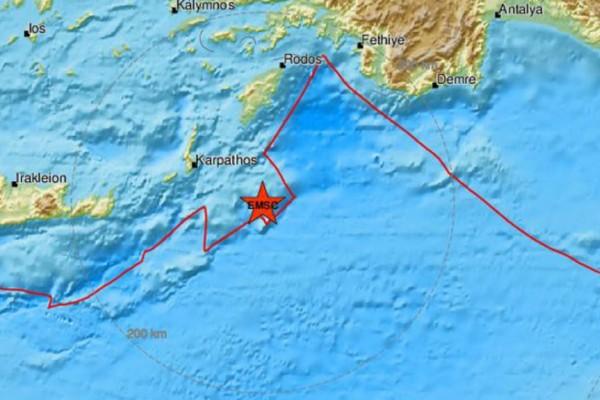 Σεισμός 4 Ρίχτερ στην Κάρπαθο