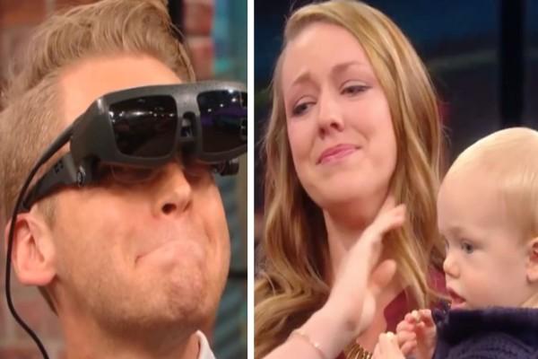 Τυφλός πατέρας βλέπει για πρώτη φορά την οικογένειά του και αντιλαμβάνεται ότι...Η αντίδρασή του θα σας συγκινήσει!