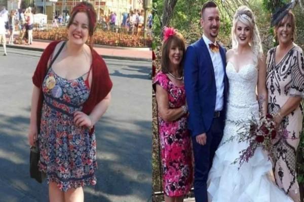 Αυτή η κοπέλα ζύγιζε 120 κιλά, έχασε το μισό της βάρος για να αισθάνεται πιο όμορφη στον γάμο της!
