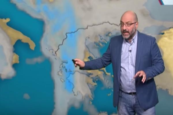 «Συνεχίζει άστατος μέχρι την Τρίτη ο καιρός» - Ο Σάκης Αρναούτογλου προειδοποιεί (video)