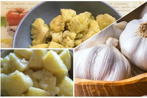 Ρίχνει σε μια κατσαρόλα πατάτα, κουνουπίδι και σκόρδο - Με το αποτέλεσμα θα γλείφετε τα δάχτυλά σας!