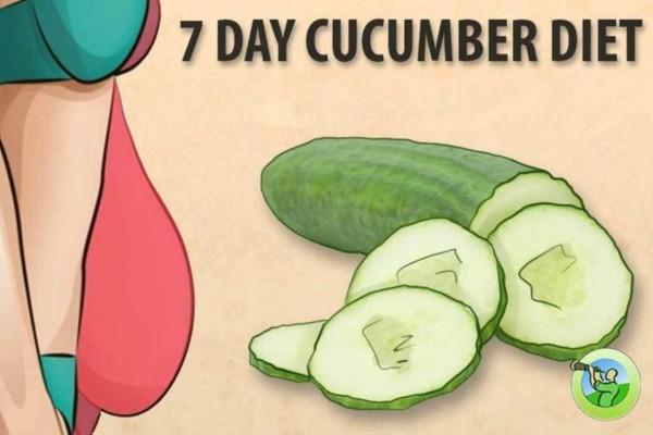 Η δίαιτα του αγγουριού - Χάστε 7 κιλά σε 7 ημέρες με το πιο εύκολο σχέδιο διατροφής