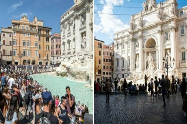 Εικόνες θλίψης: Διάσημα τουριστικά αξιοθέατα της Ευρώπης πριν και μετά τον κορωνοϊό!