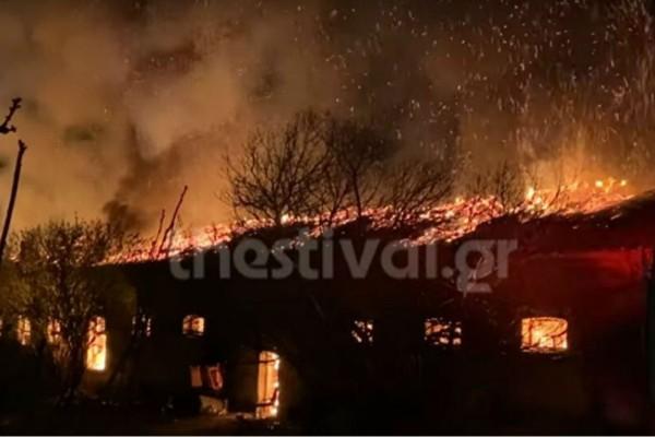 Μεγάλη φωτιά στη Θεσσαλονίκη (Video)