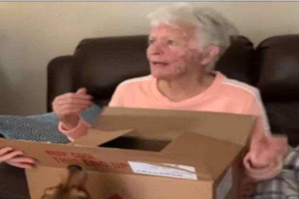 Αυτή η 83χρονη γιαγιά άνοιξε μια κούτα που της έδωσαν...Τότε ξέσπασε σε κλάματα με αυτό που βρήκε μέσα!