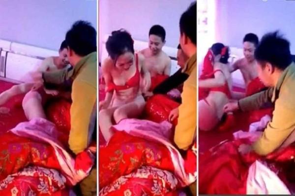 Καλεσμένοι άρπαξαν τη νύφη μπροστά στον γαμπρό και άρχισαν να την γδύνουν - Δείτε το σοκαριστικό βίντεο που εξόργισε πολλούς