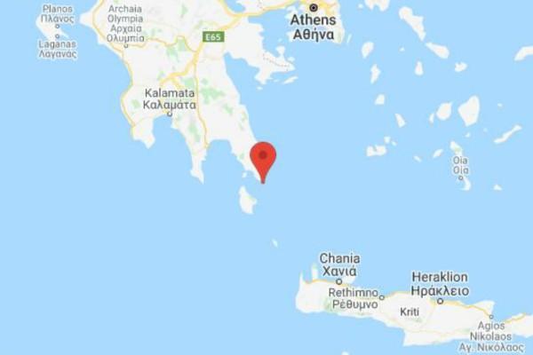 Σεισμός 3,6 στα Κύθηρα