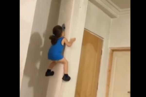 Απίστευτο: Αυτό το κοριτσάκι αρχίζει να σκαρφαλώνει έναν τοίχο.. Η συνέχεια θα σας αφήσει άφωνους!