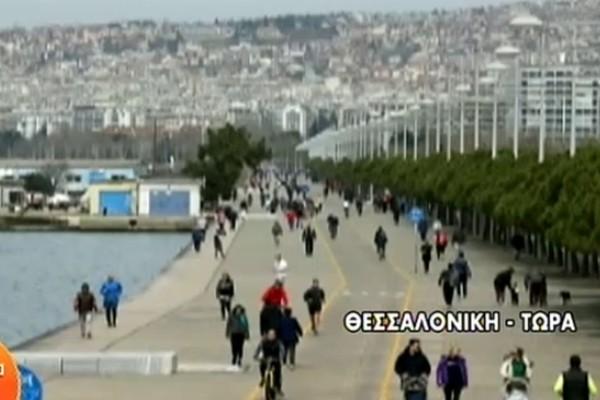 Κορωνοϊός: Γεμάτη από κόσμο η Ν. Παραλία στη Θεσσαλονίκη (video)