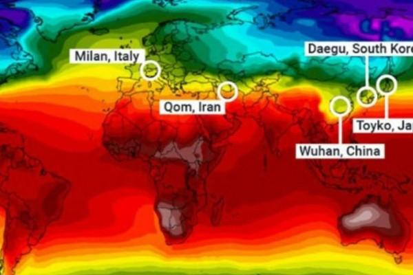 Κορωνοϊός και κλίμα: Η οριζόντια «γραμμή του θανάτου» στον πλανήτη!