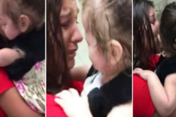 Συγκινητικό: Κοριτσάκι γεννήθηκε τυφλό και βλέπει τον κόσμο για πρώτη φορά με τα μάτια ενός άλλου