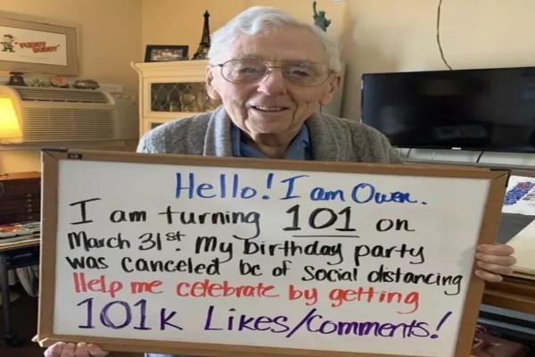 Παππούς 100 χρονών δεν μπόρεσε να γιορτάσει τα γενέθλια του λόγω καραντίνας - Αυτό που ζήτησε θα σας συγκινήσει