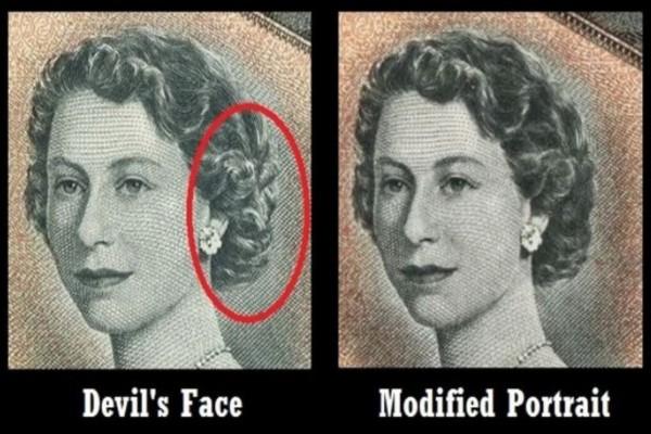 Το χαρτονόμισμα που κρύβει την μορφή του διαβόλου...Θα ανατριχιάσετε όταν το παρατηρήσετε καλύτερα!
