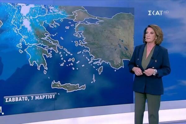 Έρχεται νέο βαρομετρικό χαμηλό - Ποιες περιοχές βρίσκονται στο «κόκκινο»; Η πρόγνωση της Χριστίνας Σούζη για το Σαββατοκύριακο (Video)
