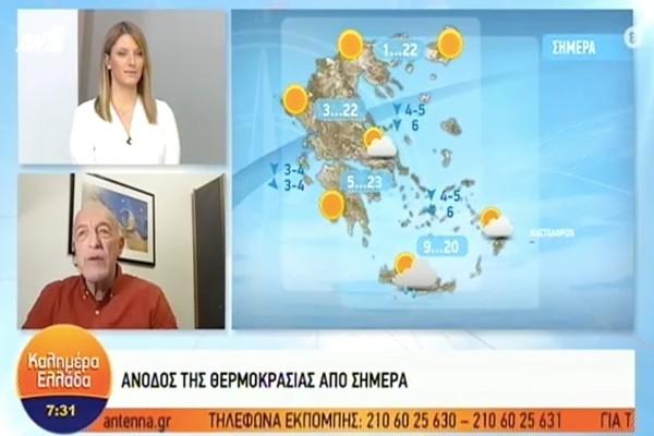 «Υψηλές θερμοκρασίες, αλλά σε αυτές τις περιοχές θα βρέξει» - Πρόγνωση του καιρού από τον Τάσο Αρνιακό (video)