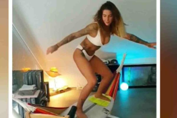Κορωνοϊός: Αυτό το κορίτσι μπορεί να βρίσκεται σε καραντίνα αλλά βρήκε τον τρόπο να κάνει...surf