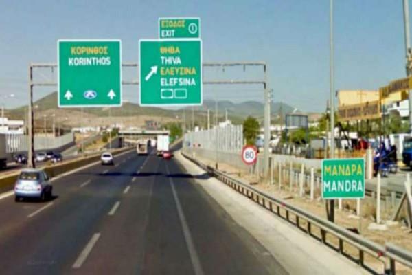 Συναγερμός στην Εθνική Αθηνών - Κορίνθου - Ανετράπη φορτηγό
